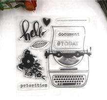 10x10cmDECORA 1PCS printer Clear Transparent Stamp DIY Scrapbooking/Card Making/Christmas Decoration Supplies