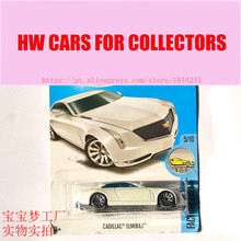 New Arrivals 2017 Hot Wheels 1:64 White cadillac elmiraj Metal Diecast Cars Collection Kids Toys Vehicle For Children Models