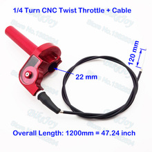 1/4 Turn CNC Aluminum Twist Throttle W Cable For CR 80 85 125 250 cc Dirt Pit Bike ATV Quad Go Kart Motorcycle(China)