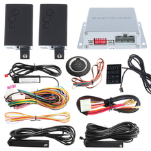 PKE car alarm system with remote engine start stop passive keyless entry, auto start and push button start, touch password entry