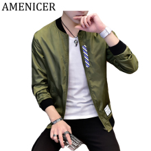 Mens Jacket Autumn Winter Sunscreen Cool Man Bomber Jackets Military Letters Printed Raincoat Cartton Style Fashion Windbreakers(China)