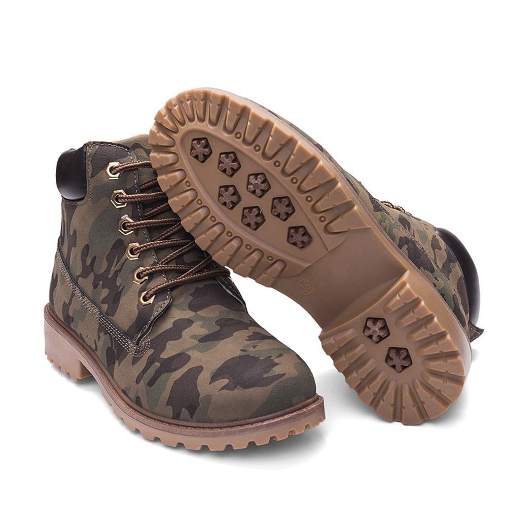 Szyadeou Women Ladies Round Toe Lace-up Faux Boots Ankle Casual Martin Shoes botas mujer invierno kozaki damskie schoenen 30 9