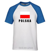 Poland men t shirts Polish POLE jerseys hip hop nations cotton t-shirt fitness footballs tees polska flags Polska ringer Tee(China)