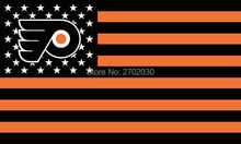 Philadelphia Flyers National Ice Hockey Star And Stripe America National Flag Custom Banners Flags With Sleeve Gromets 90*150CM(China)