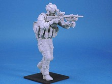 Free Shipping  1/16 Scale Unpainted Resin Figure Modern US Army Seal Force