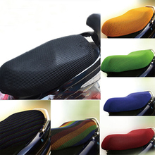Random color 3D motorbike electric bicycle moped Sunscreen Motorcycle Seat Covers Sweatband Ventilated Cushion pad Net