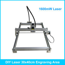 1.6w laser carving 1600mw 30*40cm area mini DIY laser engraving machine/IC marking/laser printer/carving work ship by DHL
