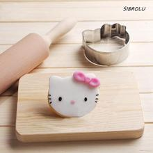 1Pcs Kawaii Cartoon Hello Kitty Patisserie gateau Cookie Cutter Fondant Cake Decorating Tools Molds Metal Pastry Gum Shop Party