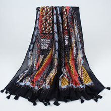 2017 New Fashion Tassel Shawl Winter Scarf Women Spain Printed Scarf Plaid  Shawls and Scarves for Women headband