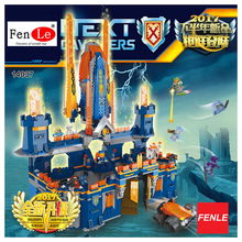 2017 1295pcs Knights Knighton Castle Model Building Blocks 14037 Assemble Bricks Children Toys Games Nexus Compatible With 70357(China)