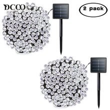 Dcoo 2 Pieces Solar Powered LED String Lights 8 Modes 72ft 22m 200 LEDs Outdoor Waterproof Christmas String Party Lights Outdoor(China)