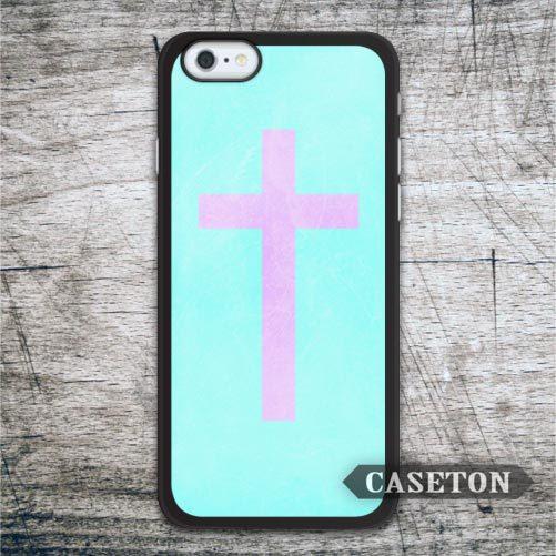 Pink Cross With Mint font b Case b font For font b iPhone b font font