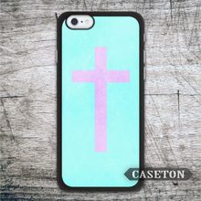 Pink Cross With Mint Case For iPhone 7 6 6s Plus 5 5s SE 5c 4 4s and For iPod 5 Ultra Lovely Phone Cover Wholesale Globally