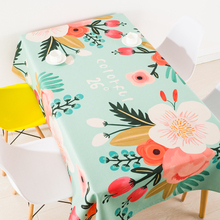 Modern European pastoral spring flower coffee table cloth linen tablecloths cover towel thick rectangular antependium decoration(China)
