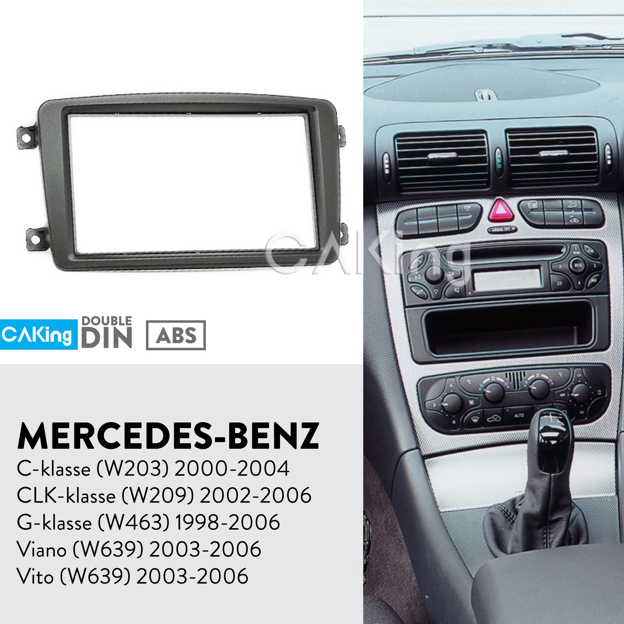 Mercedes Benz Vito W639 06 Car Stereo Double Din Fascia /& Fitting Kit