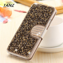 Buy TANZ Bling Diamond Case iPhone 7 7P Fashion Rhinestone Glitter Wallet Flip Leather iPhone 6 6S Plus Mobile Phone Cover for $6.46 in AliExpress store