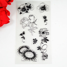Rose flowers Sunflowers garden Eco-friendly Transparent Stamp For DIY Scrapbooking/Card Making/ Decoration Supplies(China)