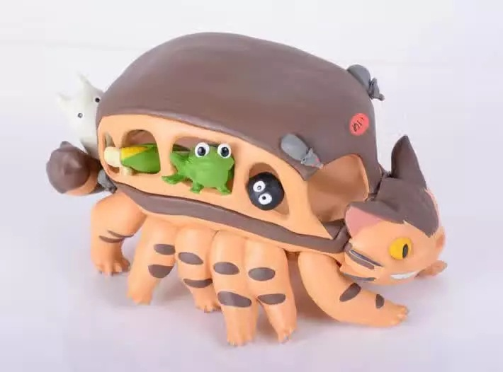 Free Shipping Anime My Neighbor Totoro The Cat Bus Set Boxed 10cm PVC Action Figure Collection Model Doll Toy Gift<br><br>Aliexpress