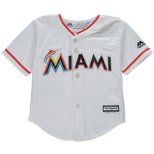 MLB Newborn & Infant Miami Marlins White Home Cool Base Jersey(China)