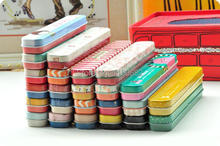 Free shipping  Mini  rectangle cute  style  pen & pencil  metal  storage case  children tableware tin box