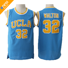 Retro Cheap Red Giant Bill Walton Basketball Jersey 32# UCLA College Throwback High Quality Stitched Embroidery Shirts For Men(China)