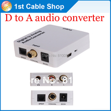 Quality Digital to Analog audio converter coaxial/spdif toslink to L/R analog audio with headphone out(China)