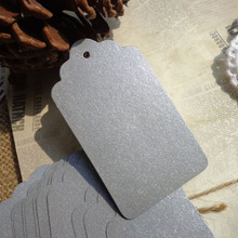 50pcs Silver DIY Paper Gift Tag Party Wedding Message Gift Hang Tag,Christmas Craft Cards Label Hemp String Included
