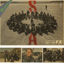 SONS OF ANARCHY TV Show POSTER FX Biker Hells Angels Motorcycle (2) Movie Art Wall Decor vintage poster