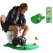 Mini Golf Game Set Toilet Time Golf Game Bathroom Golf Practice Potty Putter Game Men's Toy Novelty Gift Chilren Indoor Golf Toy