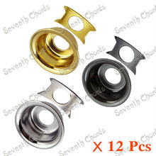 12 Pcs 3 Color Round Cup Electric Guitar Guitar Jack Plate Cover  JackPlate W/Retainer Clip .