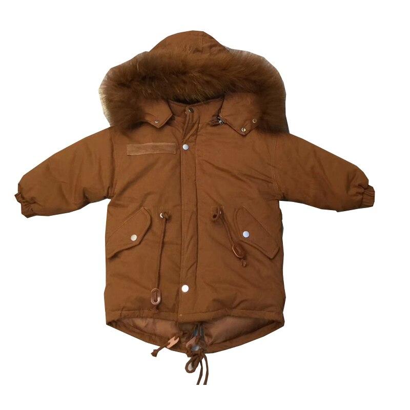 Top 2018 Winter Boys Jacket Winter Clothes Girls Thickeninig Warm Outwear Cotton Pad Children Snowsuit Children Long Hooded<br>