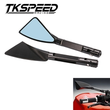 TKSPEED -  Aluminum motorcycle rearview Side mirror For Kawasaki z750 honda yamaha Suzuki Ducati