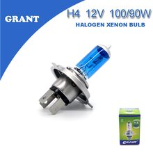 GRANT 2Pcs  H4 DC12V 100/90W Halogen Xenon Bulbs 8000K Clear White Car Automobiles Head Replacement Headlights Free Shipping
