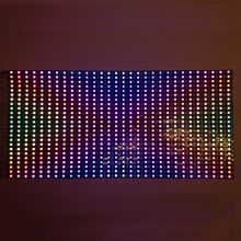 colorful led 25x50CM 5V WS2812B 60 LEDs Pixel Adreesable Dispaly Screen Panel light use for make signs(China)