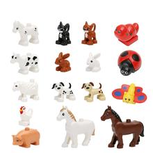 Free Ship Animal Forest Farm Ocean Models Duplo Figures Compatible with Toy DIY Building Creative Blocks Children Toy(China)