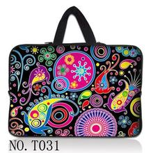 7 10 12 13 13.3 14 15 17 17.3 inch Paisley laptop bag netbook sleeve case with handle computer notebook cover pouch T#52