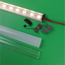 5pcs/lot 20inch 50cm led hard strip ,slim flat led bar light with 5050 strip for cabinet ,cove ,kitchen,12V 6W rigid bar(China)