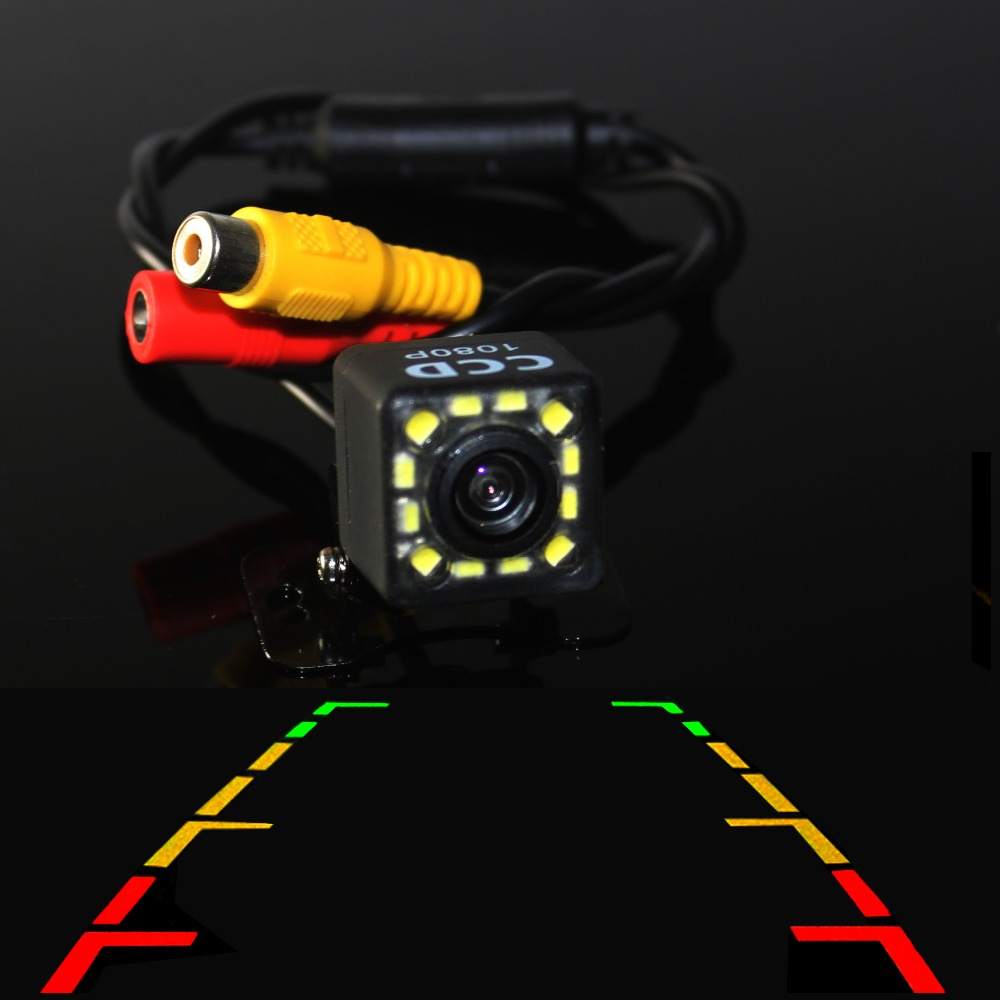 Car Rear View Camera 170 Wide Angle HD CCD 12 LED Night Vision Universal Car Reverse Rearview Camera Car Backup Parking Camera(China)