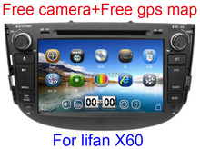 8 inch Car DVD Player for Lifan X60 GPS Navigation Bluetooth Radio TV Stereo Russian language 3G USB Port+Gift camera+mic+map