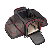 Luxurious Expandable Portable Pet Dog Car Travel Bag For Small Dogs Oxford Breathable Cat Carrier Outdoor Car Travel Accessories(China)