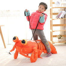 60cm/90cm High Quality Lobster Stuffed Plush Toy Cute Shrimp Pillow Animal Plush Toys Funny PiPi Shrimp Doll Baby Kids Gift
