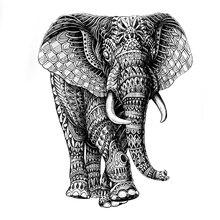 Могучий слон Бог Водонепроницаемый временные татуировки наклейки Высокое качество механический слон поддельные татуировки рукава тату хн...(China)