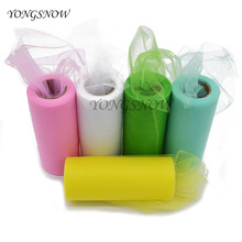 25 Yard 15cm Tulle Roll Wedding Decoration Roll Fabric Spool Craft Tulle Fabric Tutu Dress DIY Silk Organza Party Supplies 8Z