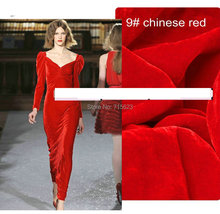 red (back fabric is  silk fabric , hair is viscose  )190gsm  silk velvet fabric