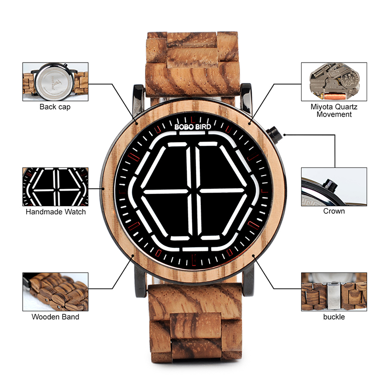 wooden wristwatches bobo bird fashion watches for gifts (79)