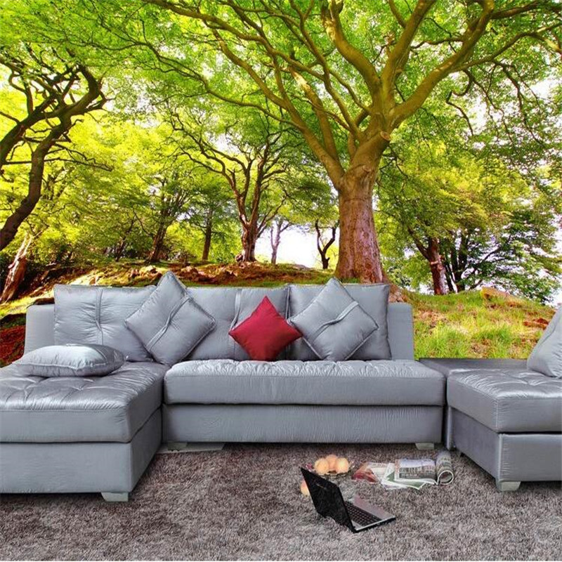 Custom Wallpapers New Landscape Woods 3D Stereo Background Shop Living Room Sofa Painting Home Decoration peacock wallpaper<br><br>Aliexpress