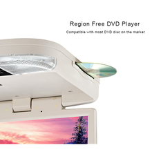 15.6 Inch Car DVD player Roof Mount FM USB AV-in HDMI 1080P Car DVD player Wireless Game With Remote control LED Lights