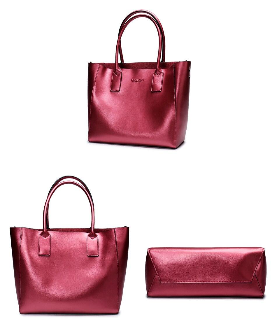 LY.SHARK female bag ladies genuine leather women bag shoulder messenger bag women handbag big famous brand designer fashion tote 25
