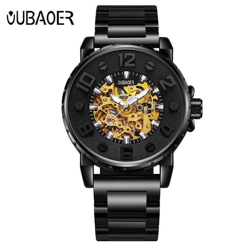 OUBAOER Top Brand Luxury Mens Watches Men Casual Military Business Clock Male Clocks Sport  Mechanical Wrist Watch Men<br>