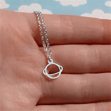 10 pcs_New Saturn Necklace Space Necklace Science Necklace Planet Saturn Solar Necklace for outdoor party(China)